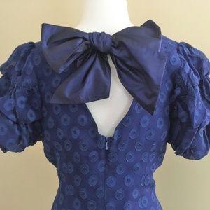 NWT Plenty by Tracy Reese Silk Blue Dots Dress 8